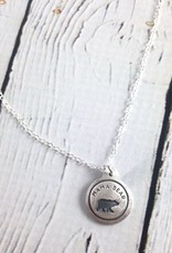 FIGS&GINGER Mama Bear Necklace made of Recycled Sterling Silver