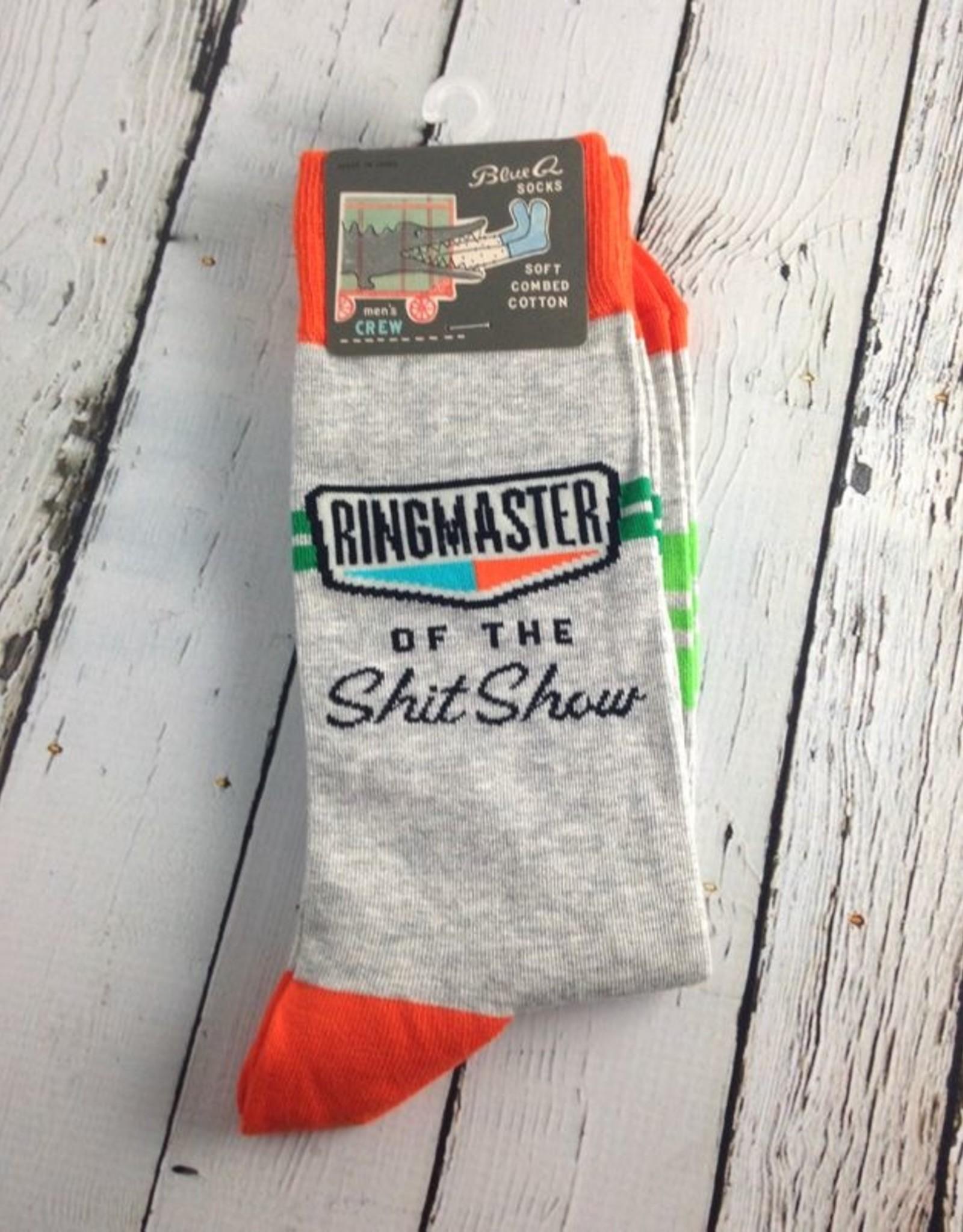BlueQ Ringmaster of the Shitshow Men's Socks