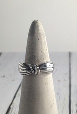 Boma Sterling Silver and Marcasite Ring, Size 7