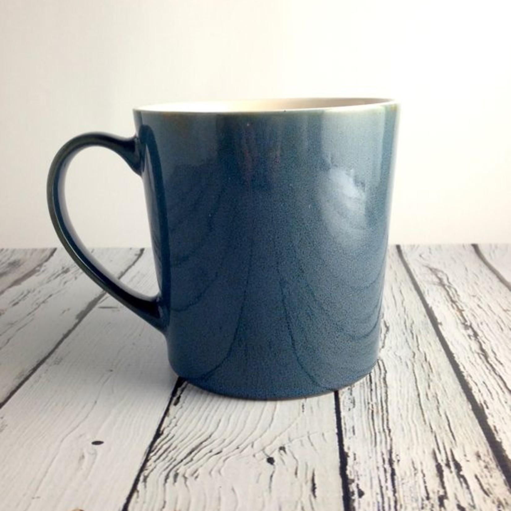 Winter Blue Let That Shit Go Ceramic Mug