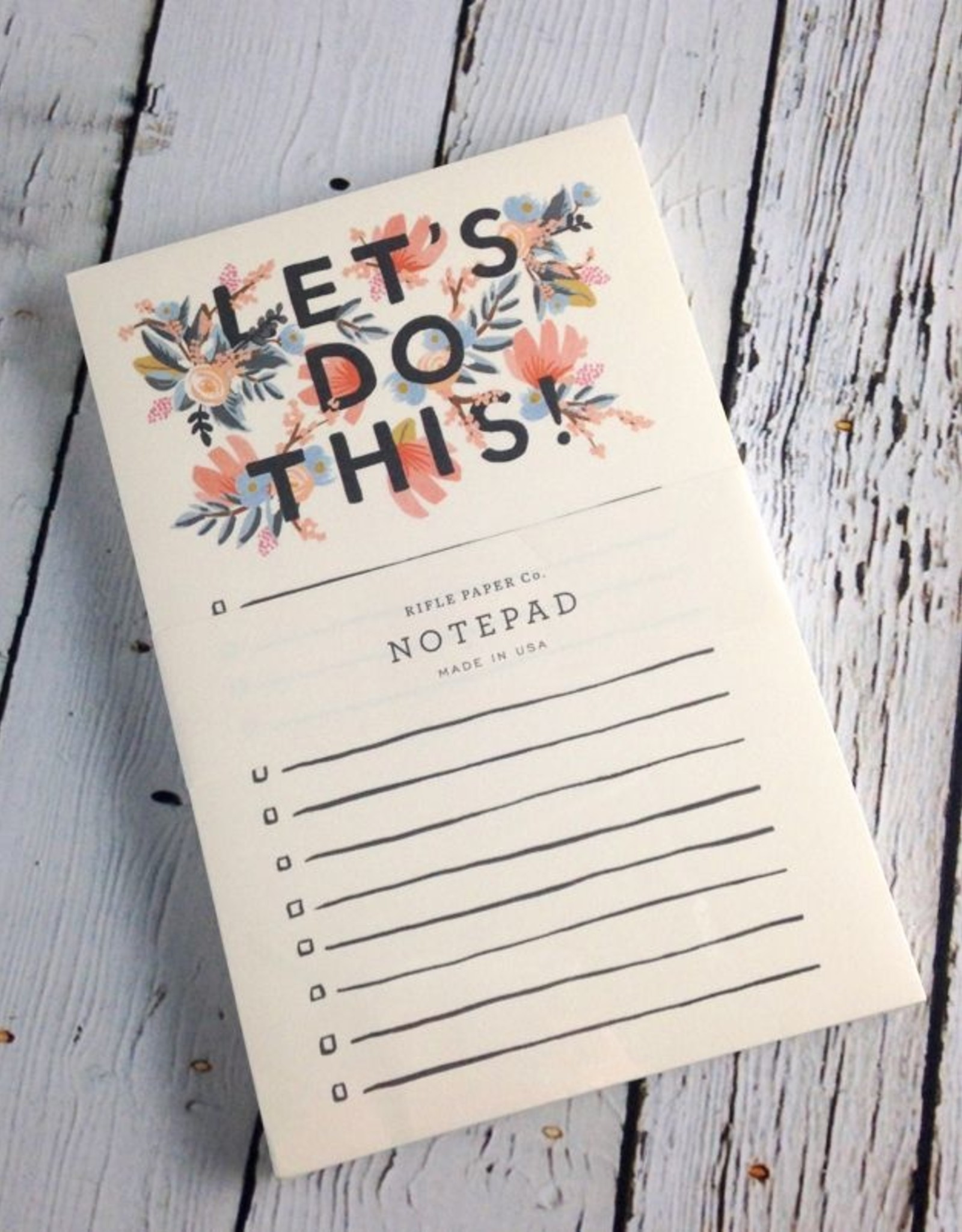 RIFFLE PAPER CO Let's Do This Notepad