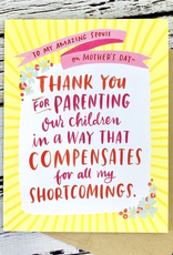 emily mcdowell Parenting Shortcomings Mother's Day Card
