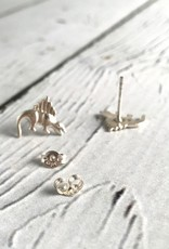 solidsilver Sterling Silver Dinosaur stud Earrings