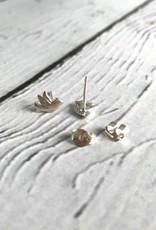 Boma Sterling Silver Flying Bird Stud Earrings