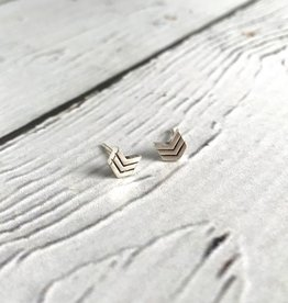 Boma Sterling Silver Chevron Stud Earrings
