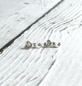 Boma Sterling Silver Mustache Stud Earrings
