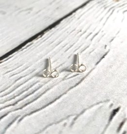 Sterling Silver Tiny Infinity Stud Earrings