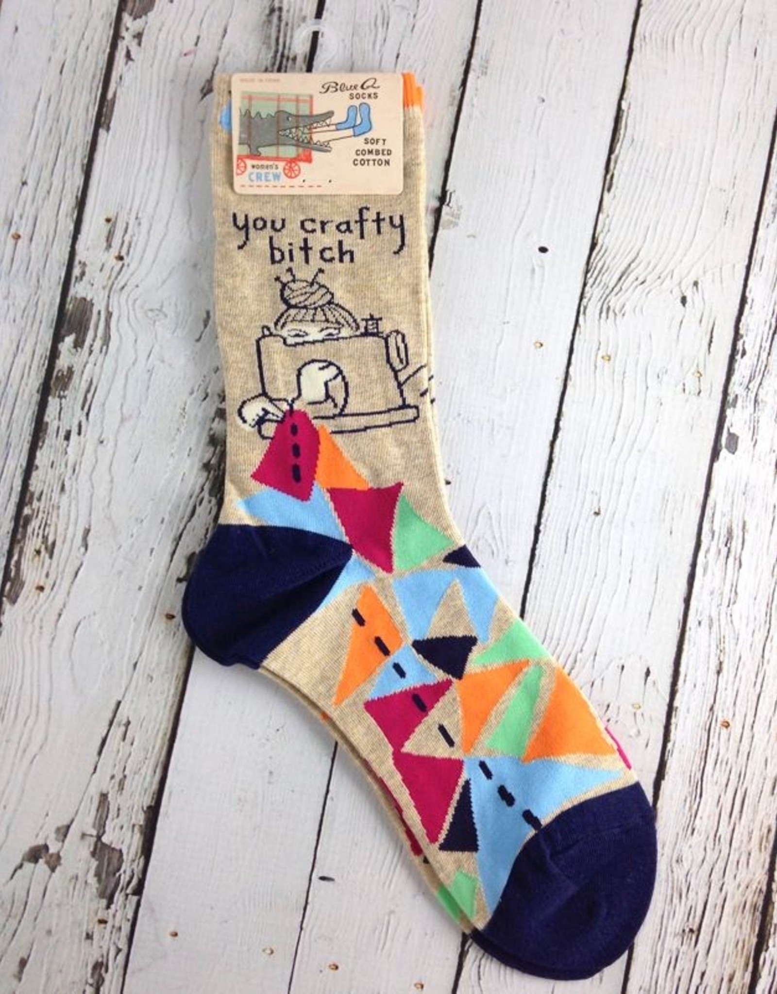 BlueQ You Crafty Bitch Women's Crew Socks