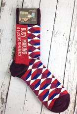 BlueQ Busy Making A Fucking Difference Men's Crew Socks