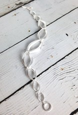 "Sterling Silver Pure Collection 7.5"" Matte Finish Toggle Clasp Bracelet"