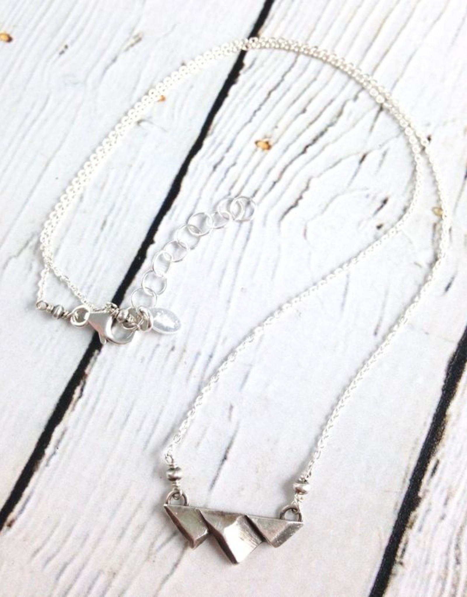 """Sterling Mountain Range Necklace, 18"""" +"""