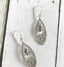 TigerMtn Sterling Silver and Blue Topaz Earrings