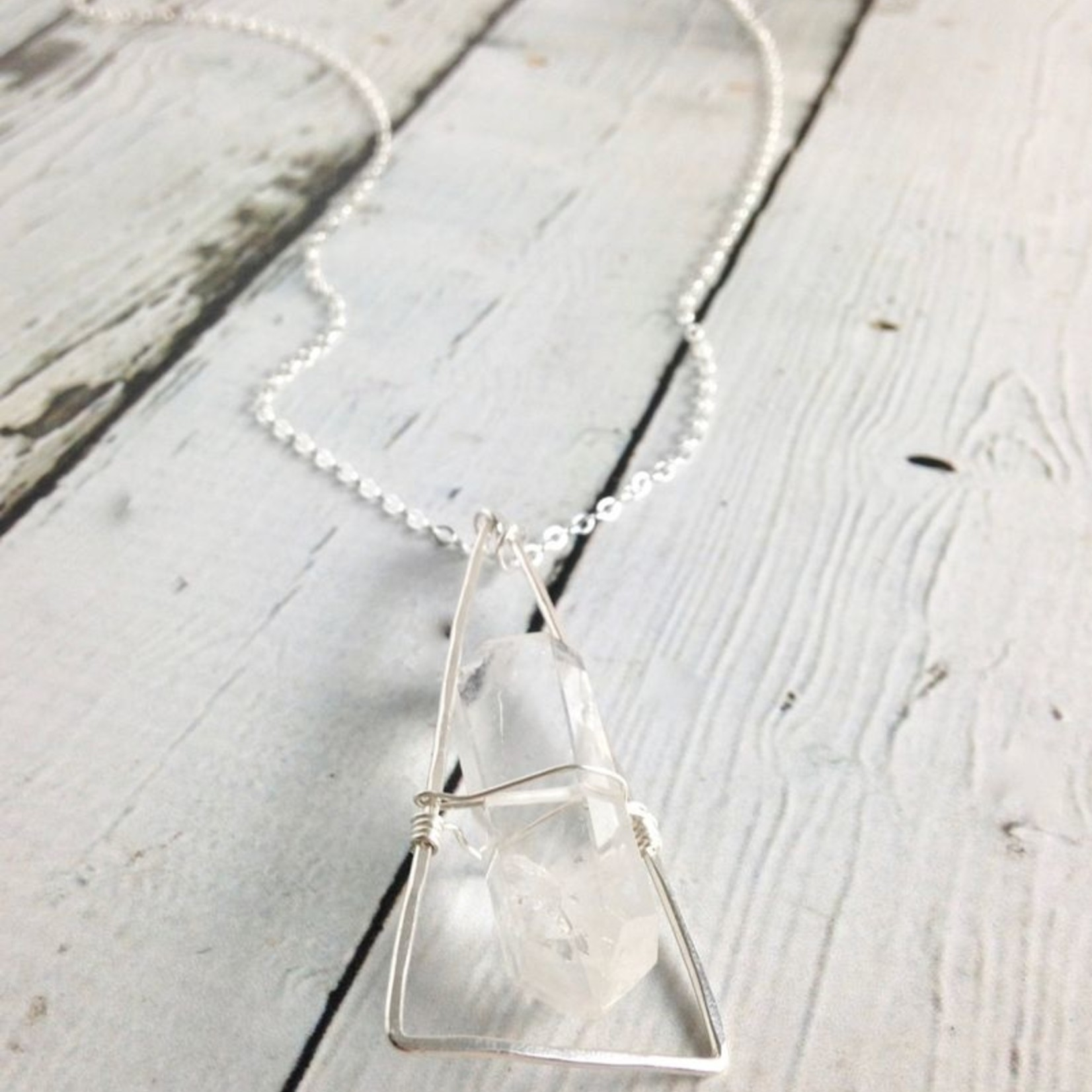 Handmade Silver Chalet Necklace