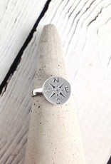 TigerMtn Sterling Silver Journey (Compass) Ring, JNY, 9