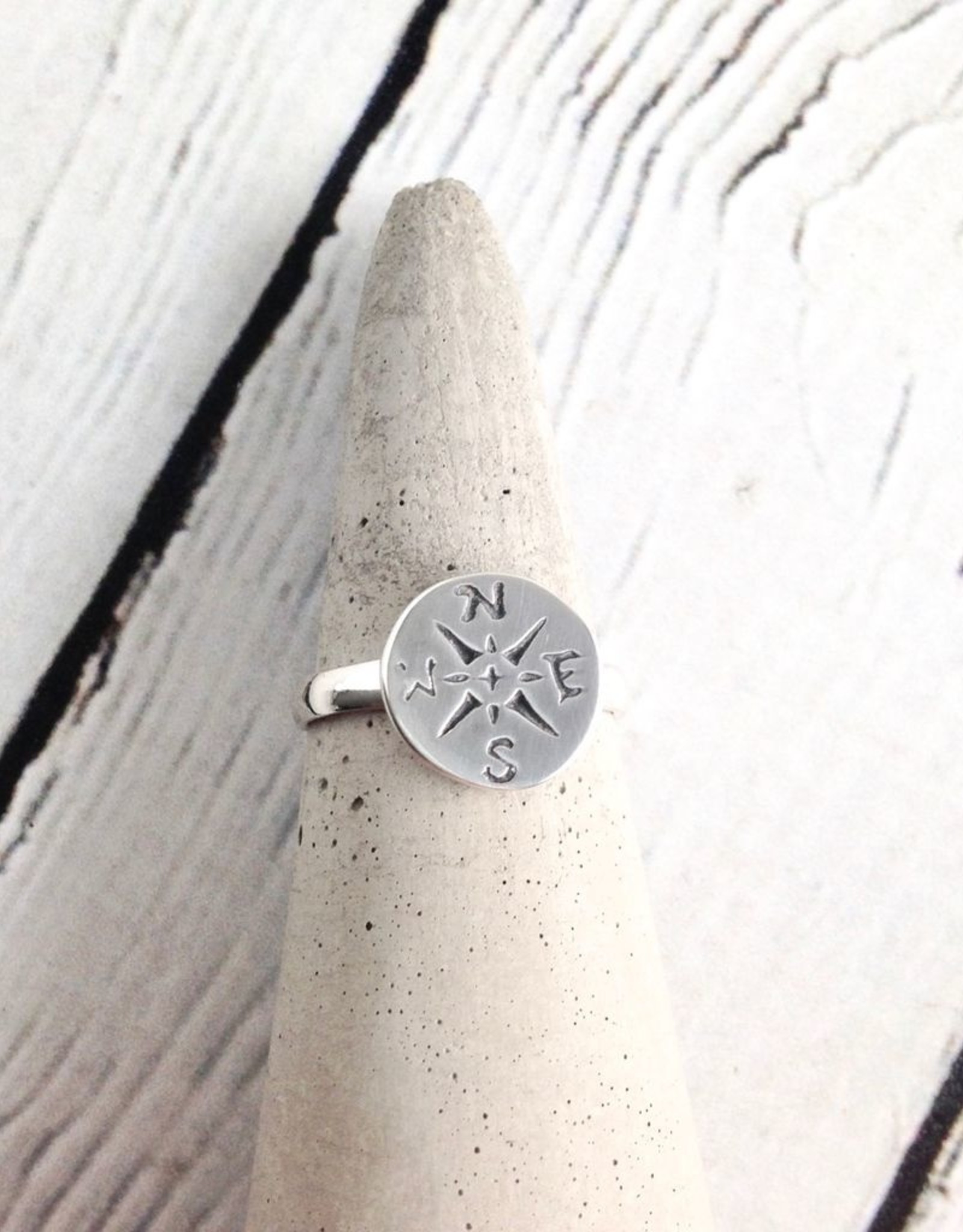 TigerMtn Sterling Silver Journey (Compass) Ring, JNY, 6