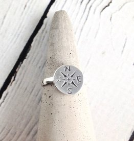 Sterling Silver Journey (Compass) Ring, JNY, 6