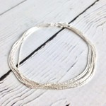"Sterling Silver 7mm 7.5"" Spark Chain Bracelet"