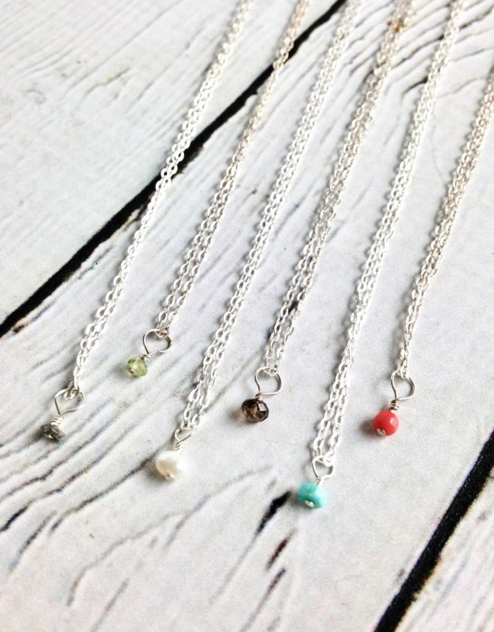 Handmade Tiny Birthstone Necklace