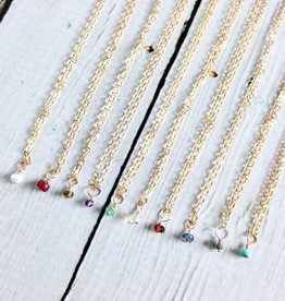 Handmade 14k Goldfill Birthstone Necklace