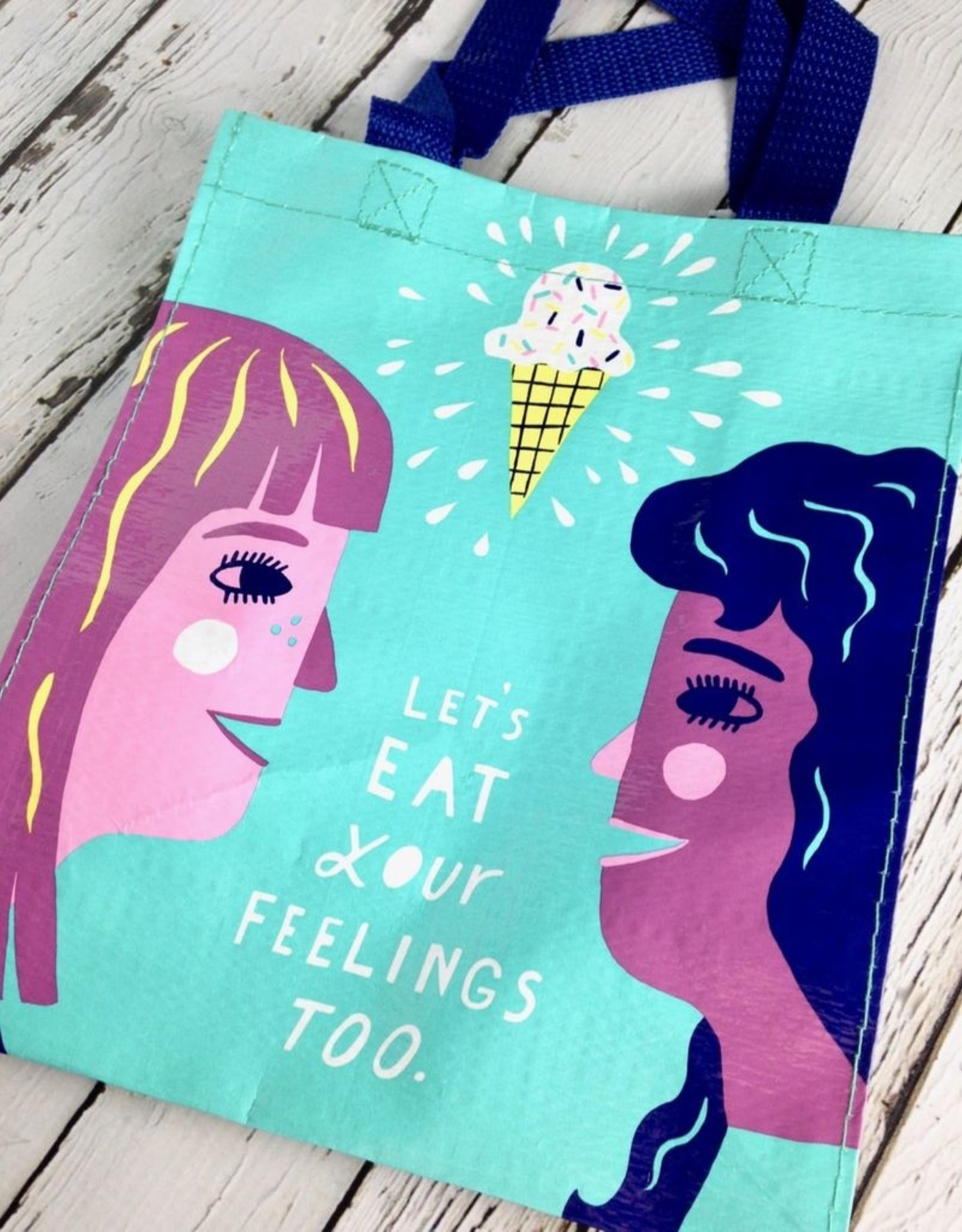 BlueQ Eat Your Feelings Handy Tote