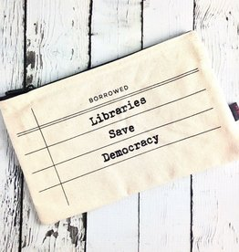 Libraries Save Democracy Zip Pouch Pencil Case