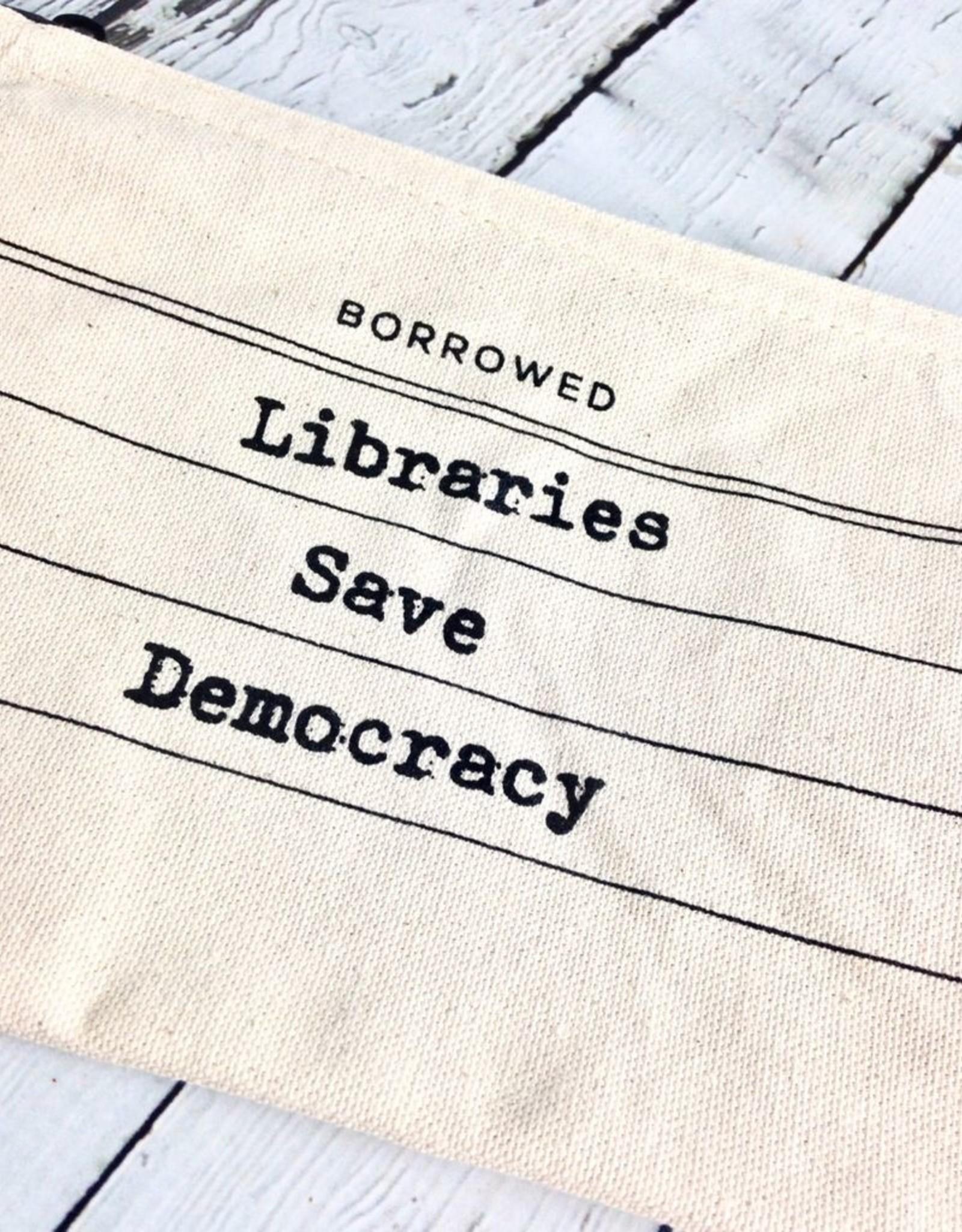 Libraries Save Democracy Zip Pouch Pencil Case