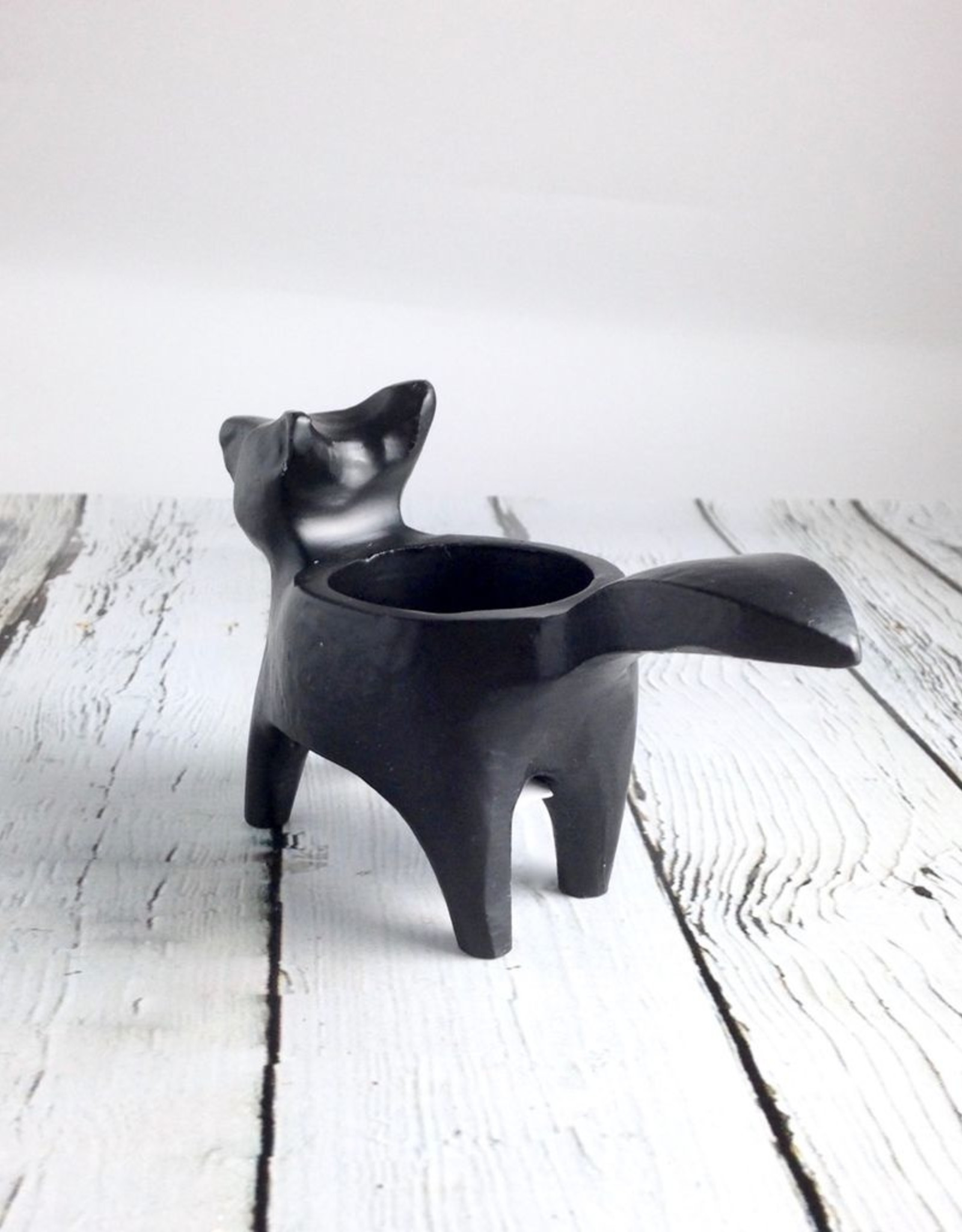 Black Fox Candle Holder