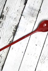 """9-1/2""""L Red Enameled Spoon"""