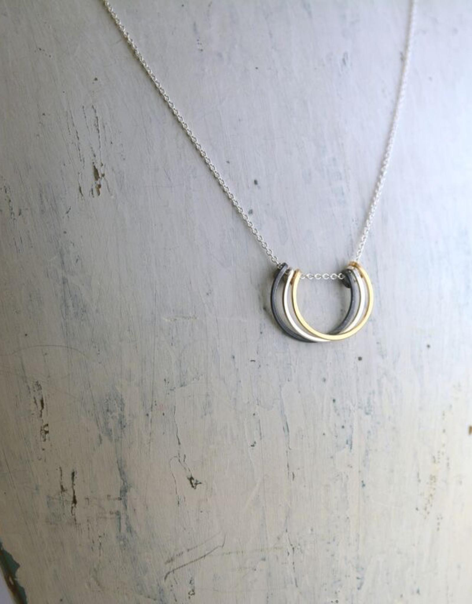 """Mixed Metals Small Honey Petals Necklace (18"""")"""