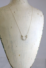 """Freshie & Zero Sterling Silver Small Honey Petals Necklace (18"""")"""