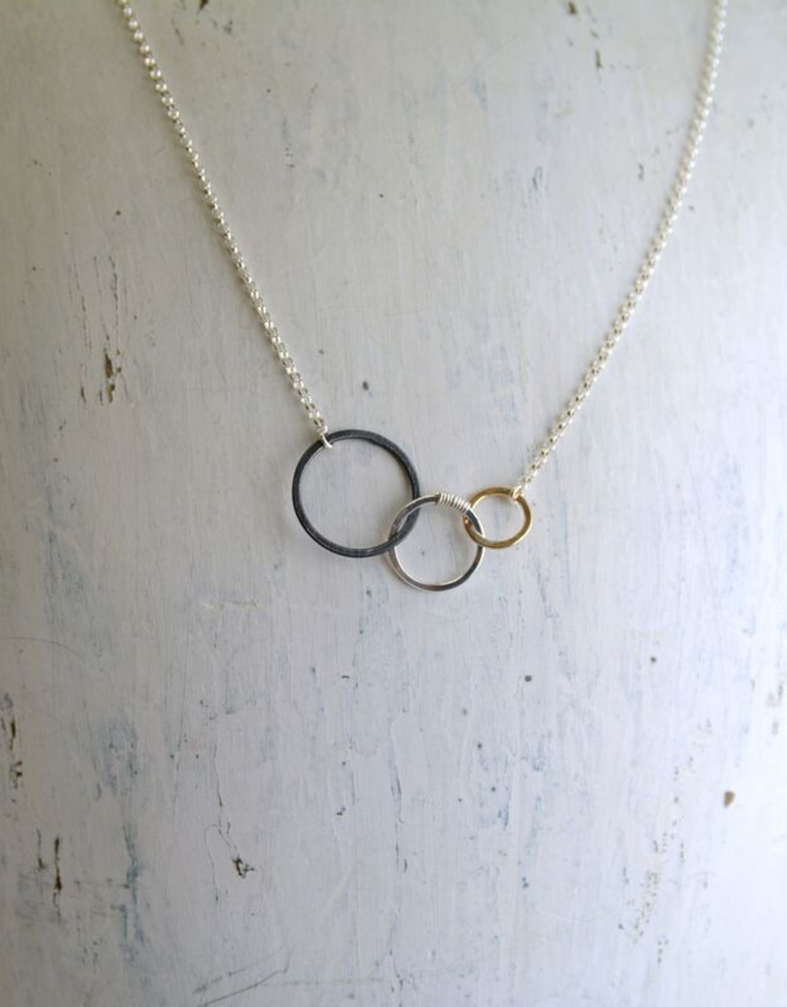 "Freshie & Zero Mixed Metals Storied Necklace (18"")"