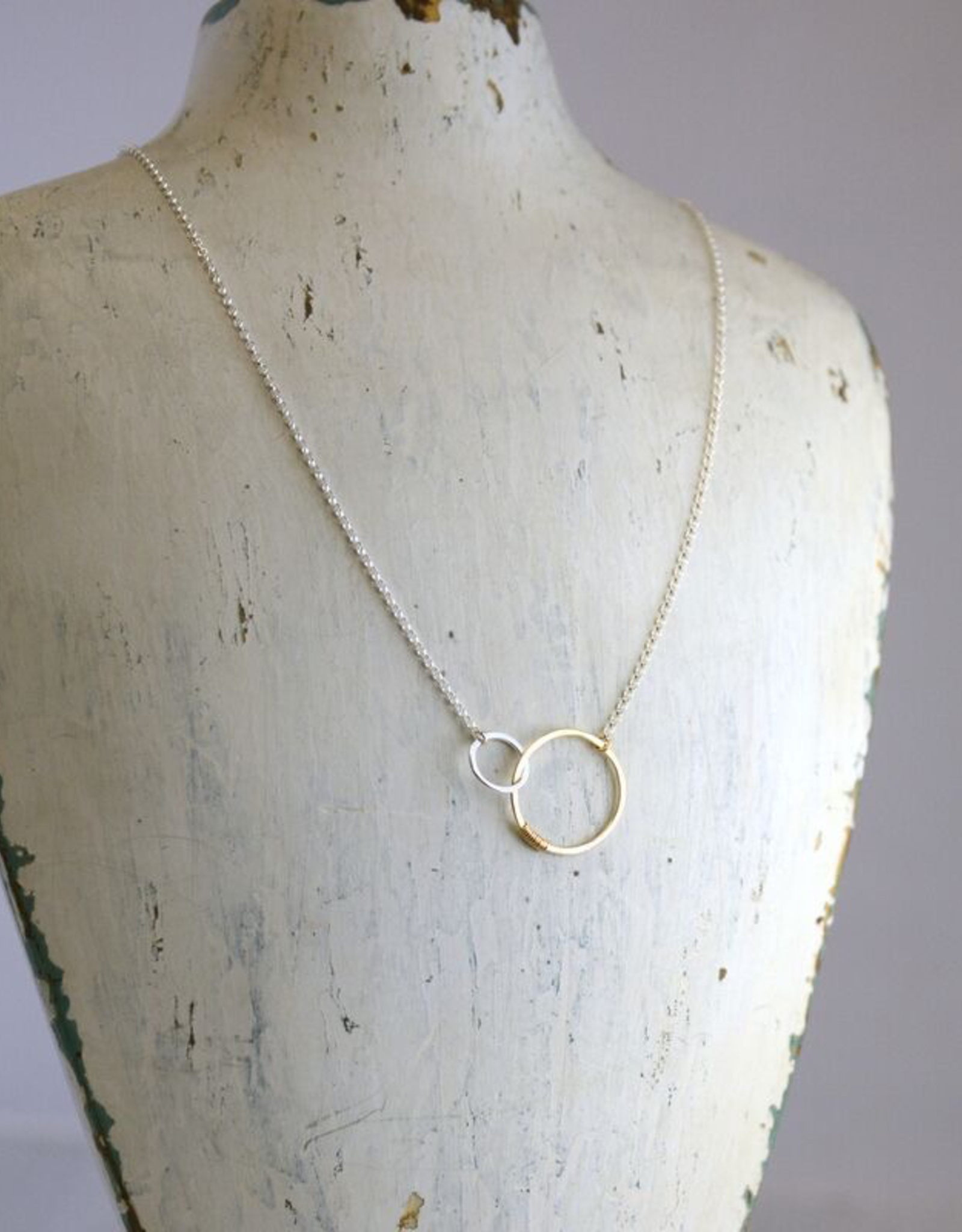 "Freshie & Zero Sterling Silver Love Necklace (18"")"