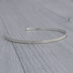 Handmade Diamond Dusted | medium sterling silver narrow cuff