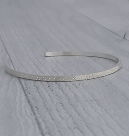 Handmade Diamond Dusted | medium sterling silver narrow cuff