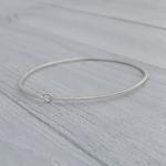Handmade Diamond Dusted | medium sterling silver petite bangle