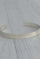 Handmade Diamond Dusted | medium sterling silver grand cuff