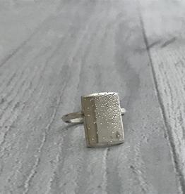 Handmade Diamond Dusted Sterling Silver Everlong Ring