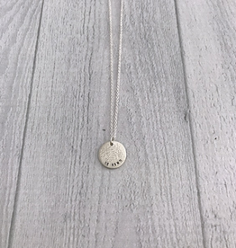 """Handmade BE KIND   16 & 18"""" sterling silver diamond dusted mini coin necklace"""