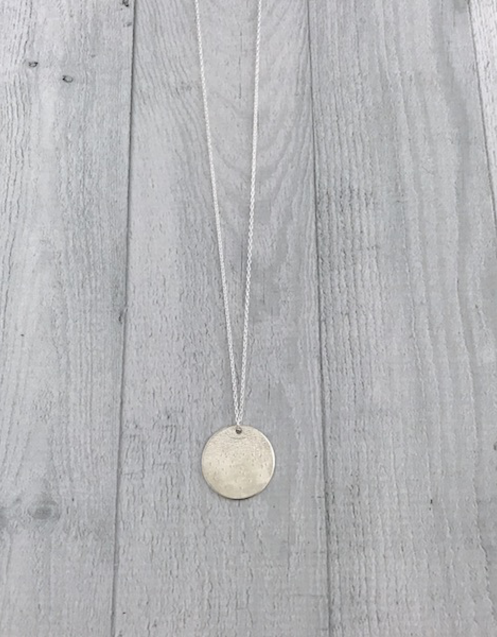 "Handmade Diamond Dusted | 30 & 32"" sterling silver large medallion"