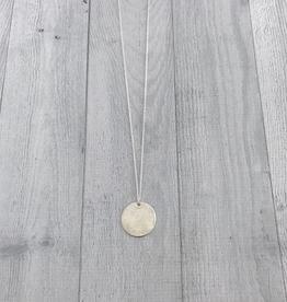 "Handmade Diamond Dusted   30 & 32"" sterling silver large medallion"