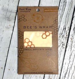 3 Pack Assorted Size Bee's Wax Wrap