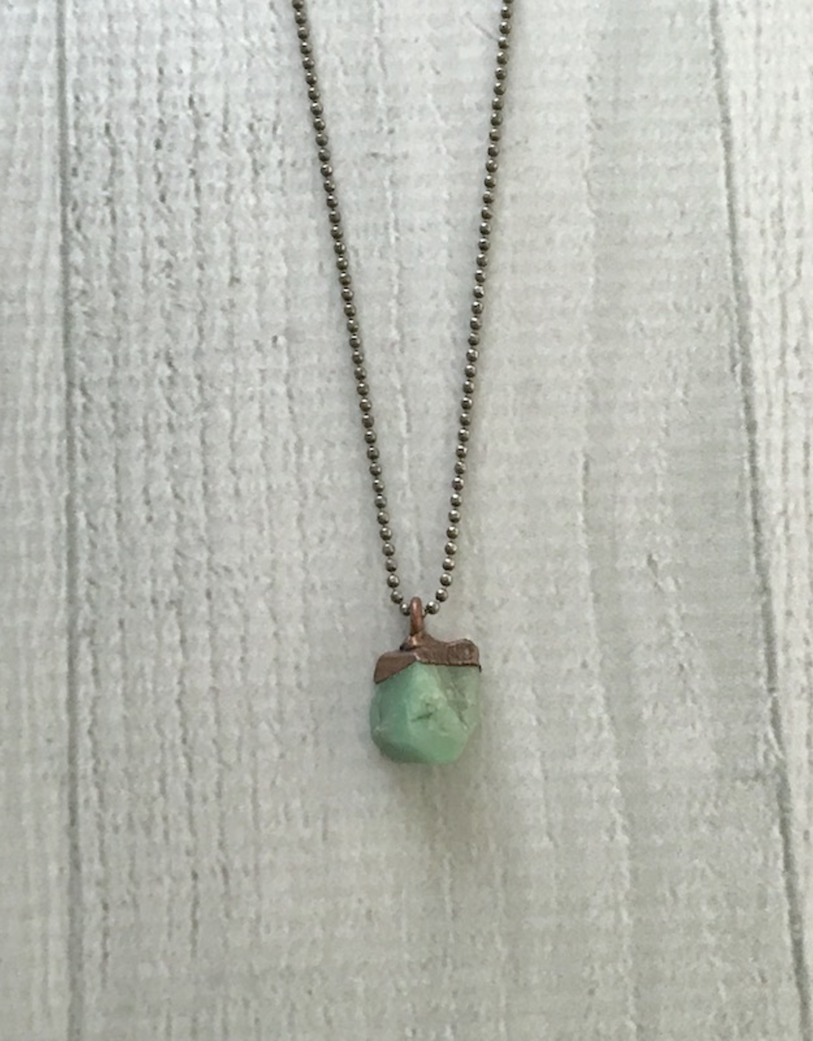 "HawkHouse Raw Emerald Electroformed Pendant on 18"" Sterling Chain Necklace"
