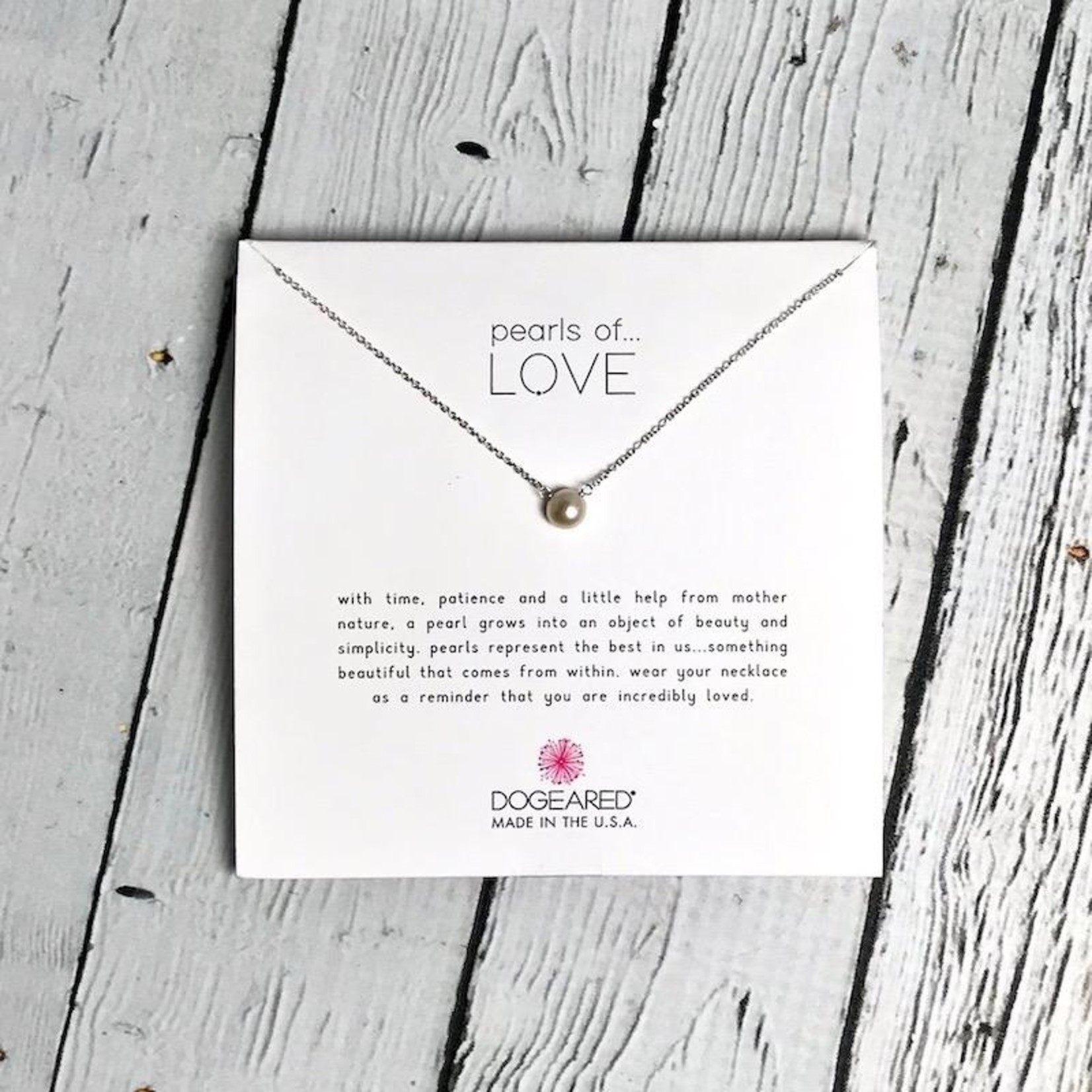 """Sterling Silver 16"""" Pearls of Love Necklace"""