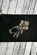 Maria Iqbal Screen Printed Milkweed Pouch By Titanium Badseed