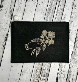 Screen Printed Milkweed Pouch By Titanium Badseed