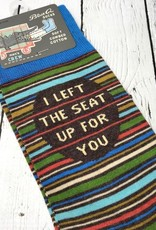 I Left The Seat Up Men's Crew Socks