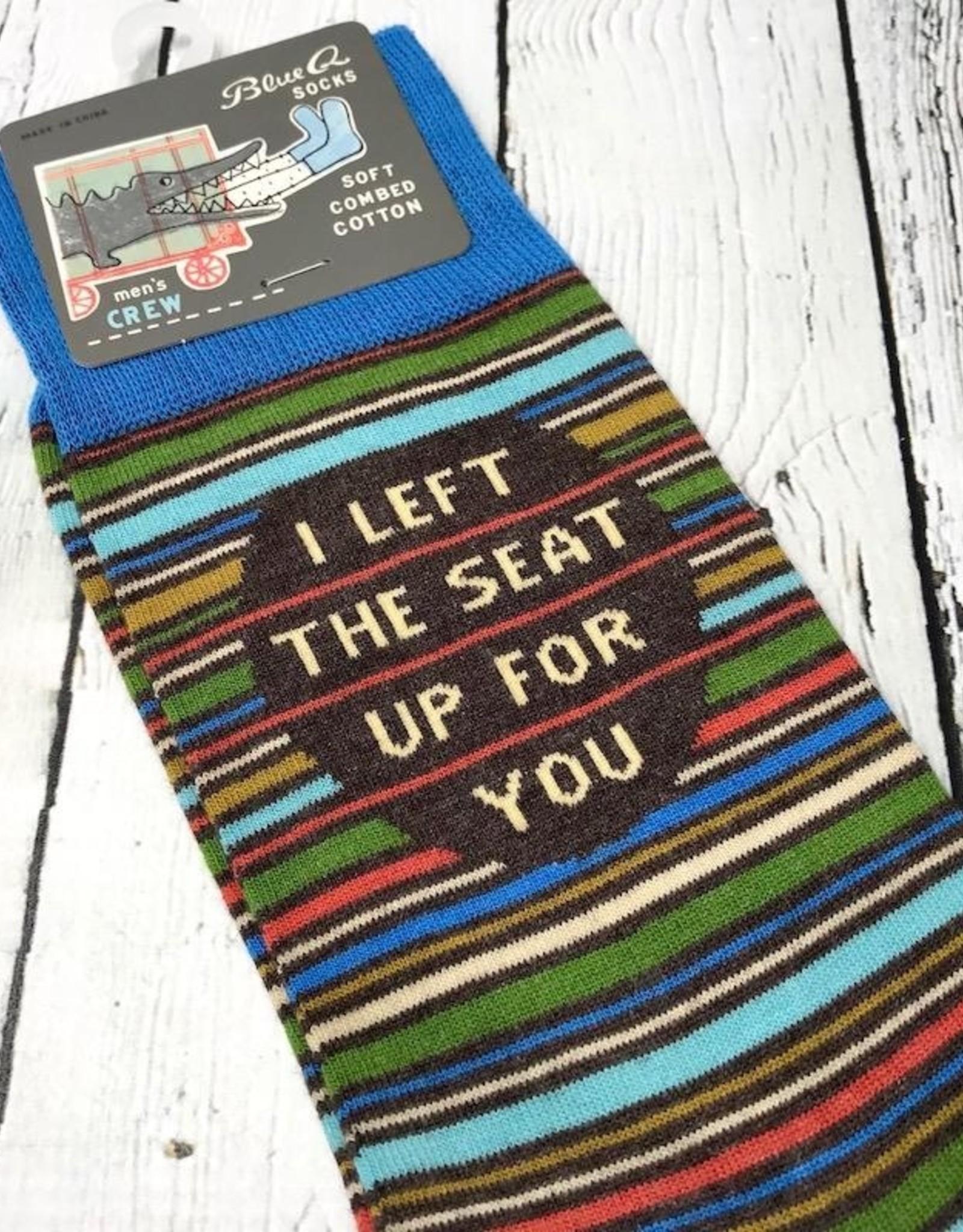 BlueQ I Left The Seat Up Men's Crew Socks