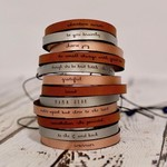 LaurelDenise Leather Word Bracelet