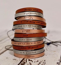 LaurelDenise Leather Word Bracelet with