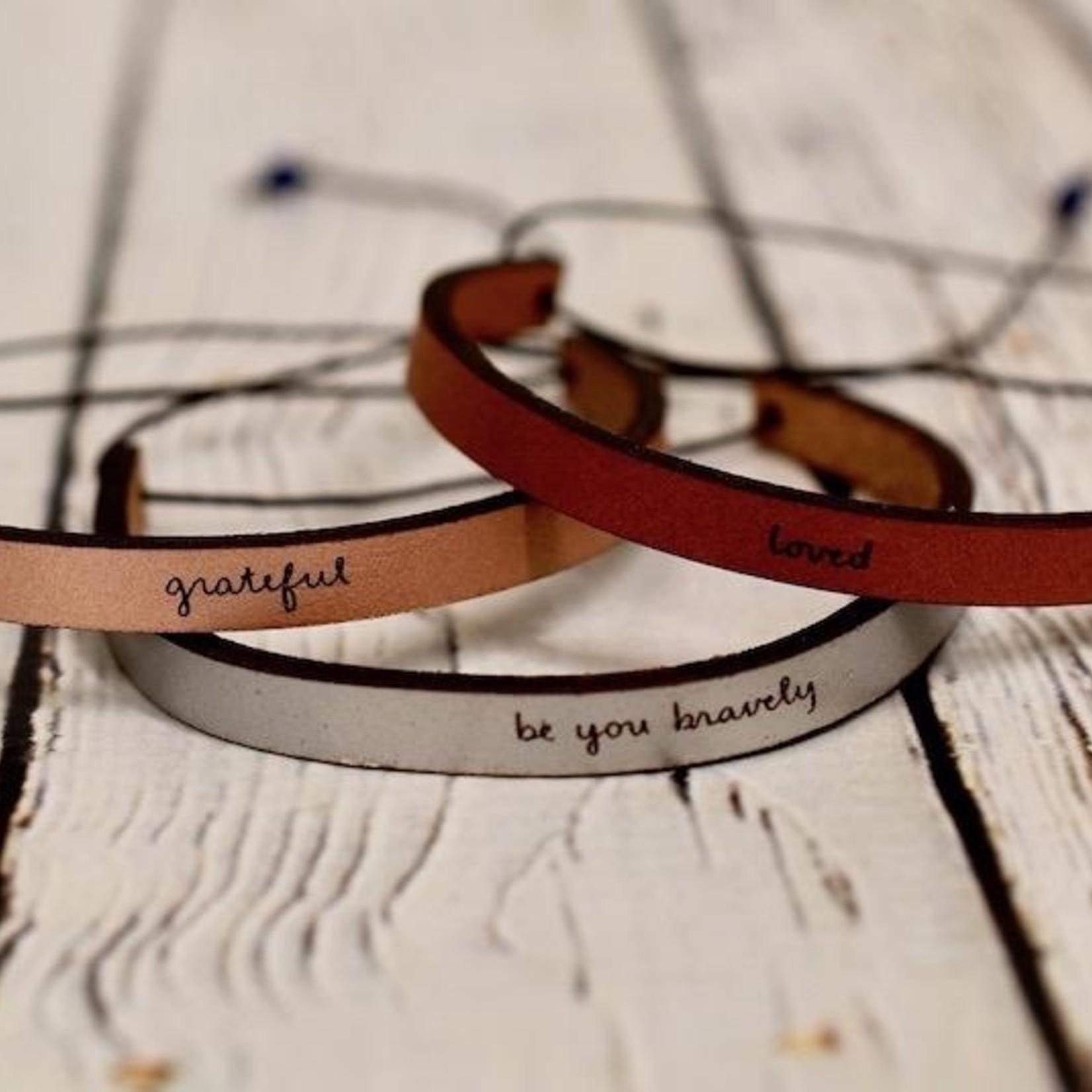 LaurelDenise Leather Word Bracelet